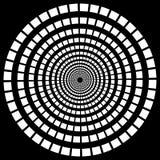 Abstract monochrome radial, burst element. Single shape  Royalty Free Stock Photography