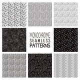 Abstract Monochrome Seamless Background Patterns Stock Photography