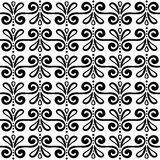 Abstract monochrome seamless hand-drawn pattern Royalty Free Stock Image