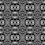 Abstract monochrome seamless hand-drawn pattern. Stock Images