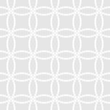 Abstract monochrome seamless pattern in Asian style with overlapping dotted circles. Abstract monochrome seamless pattern in Asian style with white overlapping Royalty Free Stock Photos