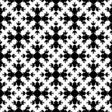 Abstract monochrome seamless pattern, Asian style texture. Vector monochrome geometrical texture, black and white seamless pattern in Asian style. Stylized Royalty Free Stock Photos