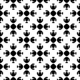 Abstract monochrome seamless pattern, Asian style. Vector monochrome geometrical texture, black and white seamless pattern in Asian style. Stylized geometric Stock Photo