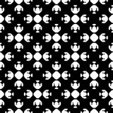 Abstract monochrome seamless pattern, Asian style. Vector monochrome geometrical texture, black and white seamless pattern in Asian style. Stylized geometric Stock Images