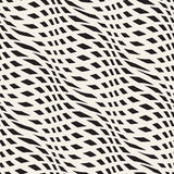 Abstract monochrome seamless pattern crossed vawes Royalty Free Stock Photography