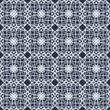 Abstract monochrome vintage seamless pattern on a black background Royalty Free Stock Images