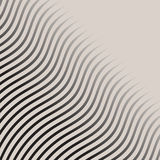 Abstract monochrome wave lines pattern striped halftone vector Royalty Free Stock Photography