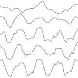 Abstract monochrome waves oscillating object. EPS 10 vector. Abstract monochrome waves oscillating object. And also includes EPS 10 vector Royalty Free Stock Images