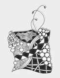 Abstract monochrome zentangle ornament. Hand drawn Royalty Free Stock Photos