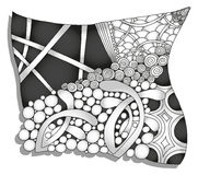 Abstract monochrome zentangle ornament. Hand drawn Stock Photography
