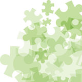 Abstract monocolor puzzle background Stock Image