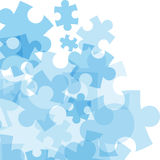 Abstract monocolor puzzle background royalty free illustration
