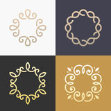 Abstract monogram elegant logo icon vector design. Royalty Free Stock Images