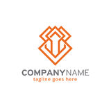 Abstract Monogram Logo Template Design Vector, Embleem, Ontwerpconcept, Creatief Symbool, Pictogram Royalty-vrije Stock Afbeelding
