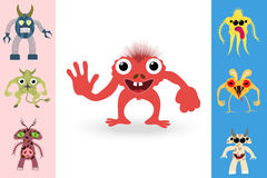 Abstract monsters set Royalty Free Stock Images