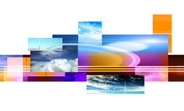 Abstract montage design Royalty Free Stock Images