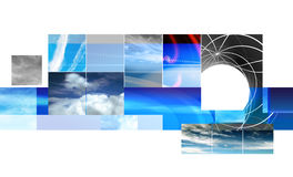 Abstract montage design Royalty Free Stock Image