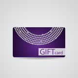 Abstract Mooi Diamond Gift Card Design vector illustratie