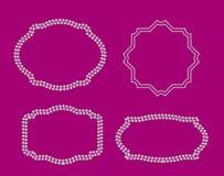 Abstract Mooi Zwart Kader Diamond Background vector illustratie