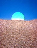 Abstract moon and sand Stock Image