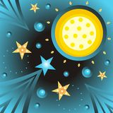 Abstract moon and stars Royalty Free Stock Photos