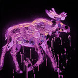 Abstract Moose Painting Royalty Free Stock Images