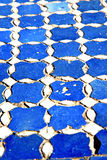 Abstract morocco in africa     blue  pavement Stock Images