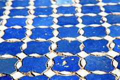 Abstract morocco in africa  blue texture Royalty Free Stock Photos