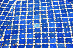 Abstract morocco in africa  tile the blue Stock Photos