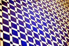 Abstract morocco in africa  tile blue  texture Royalty Free Stock Photos