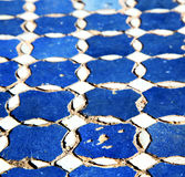 Abstract morocco in africa  tile the colorated pavement   backgr Stock Photography