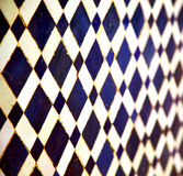 Abstract morocco in africa  tile the colorated pavement   backgr Royalty Free Stock Images