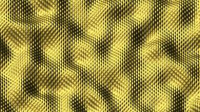 Abstract Morphing Golden Surface - 3D rendering in Seamless Loop stock video footage