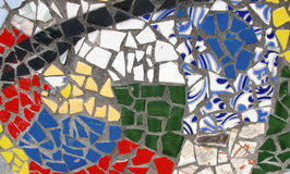 Abstract mosaic. Made up of blue and black stones in pattern Royalty Free Stock Images