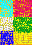 Abstract mosaic art Royalty Free Stock Photography