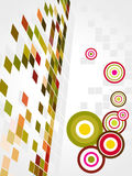 Abstract mosaic art vector with circle. A mosaic art background royalty free illustration