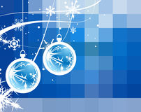 Abstract mosaic background. With snowflakes. Vector illustration Royalty Free Stock Image