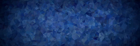 Abstract mosaic background of blue gradient triangles Stock Photo