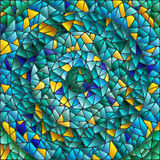 Abstract mosaic background in blue and green tones Royalty Free Stock Photography