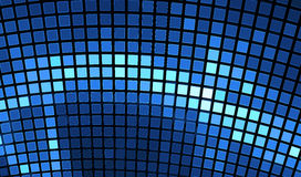Abstract mosaic background. Bright blue disco fractal Stock Photography
