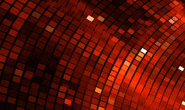 Abstract mosaic background. Bright red disco fractal Stock Photography