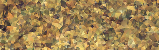 Abstract mosaic background of brown gradient triangles Royalty Free Stock Photo