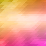 Abstract mosaic background of colored triangles in pink and yellow shades. Vector illustration Royalty Free Stock Photos