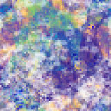 Abstract mosaic background with colorful pixels. In blue, violet spectrum vector illustration