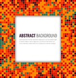 Abstract mosaic background with colorful pixels. Party invitation design template. Vector. Illustration royalty free illustration