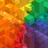 Abstract mosaic background from cubes Royalty Free Stock Images