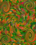 Abstract mosaic background with four spirals Stock Images