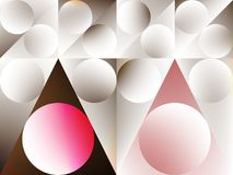 Abstract mosaic background. Grey and pink abstract mosaic background. Vector illustration Stock Images