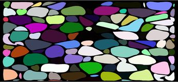 Colorful Abstract mosaic background. Illustration representing an abstract colorful backgrond similar to a mosaic Stock Images
