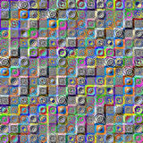Abstract mosaic background with mandalas Royalty Free Stock Photo